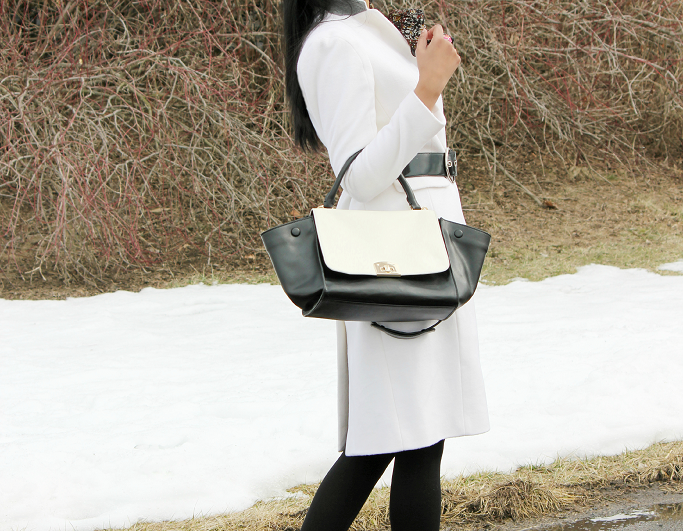 White Wool Coat, Ann Taylor Manor Coat, Winter White Coat