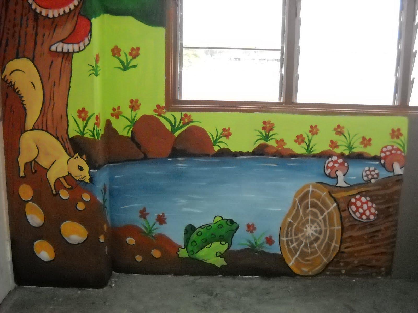 Pelukis mural shah alam bilik darjah sk jalan u3 subang for Mural kartun