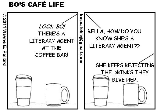 Una vignetta sugli agenti letterari dal sito Bo's Café Life.