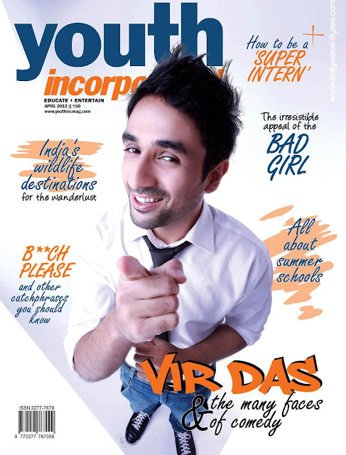 Vir Das on Cover of Youth Incorporated April 