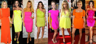vestidos em neon