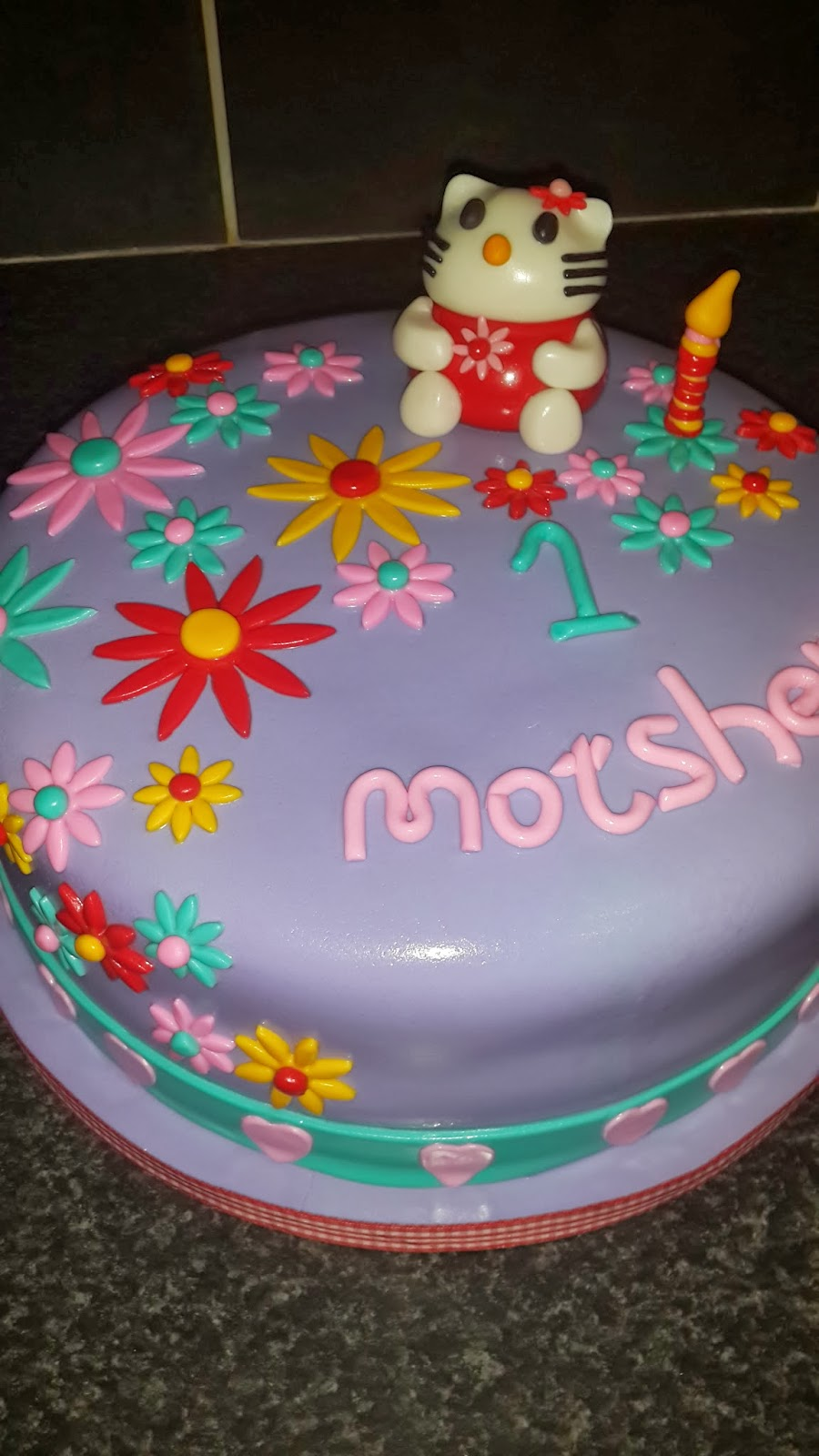 Die Koekblik Hello Kitty 1st Birthday Cake For Motshepeng 06