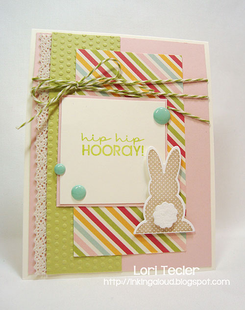 Hip Hip Hooray-designed by Lori Tecler-Inking Aloud-stamps and dies from Papertrey Ink