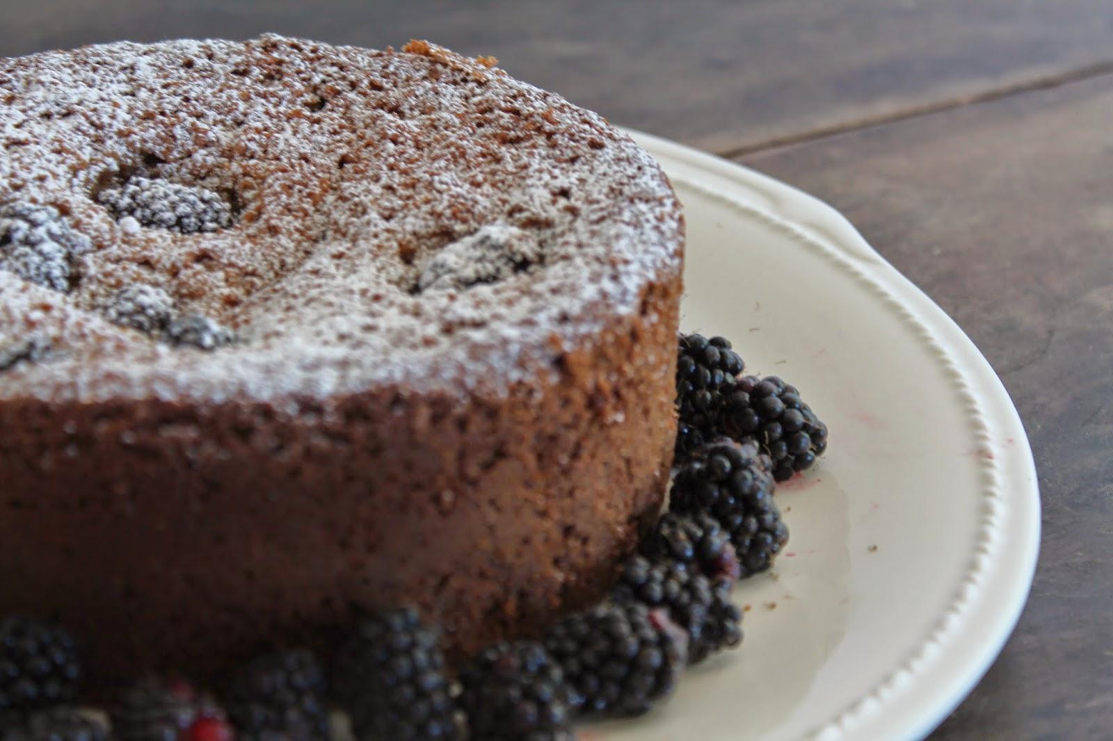 Blackberry Mace Cake with Spelt