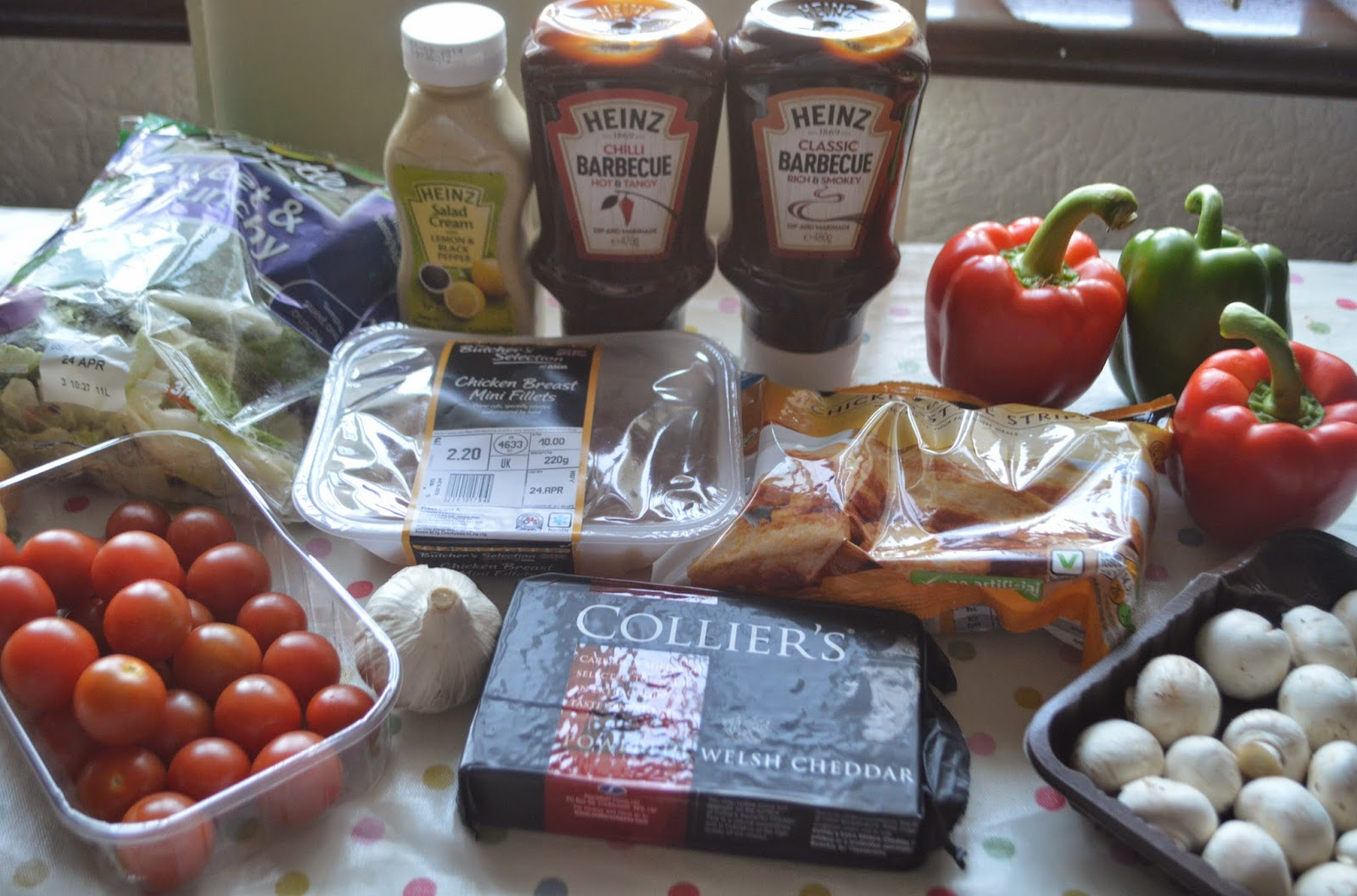 Heinz, Asda, Barbecue Chicken, Recipe, Food, healthy, #shop , tomatoes, mushrooms, pottoes, cheese, garlic,