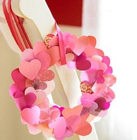 Como hacer una corona de corazones para san valentin manualidades faciles - Como hacer manualidades faciles ...