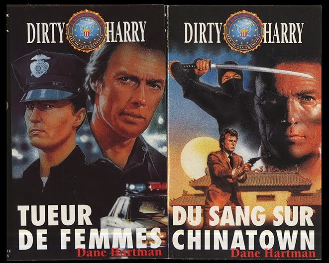 Couverture Dirty Harry éditions Fleuve Noir Technique: Acrylique
