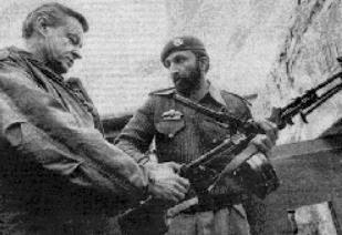 Zbigniew Brzeziński purportedly meets with then US ally Osama bin Laden who was training with the Pakistan Army, 1981.