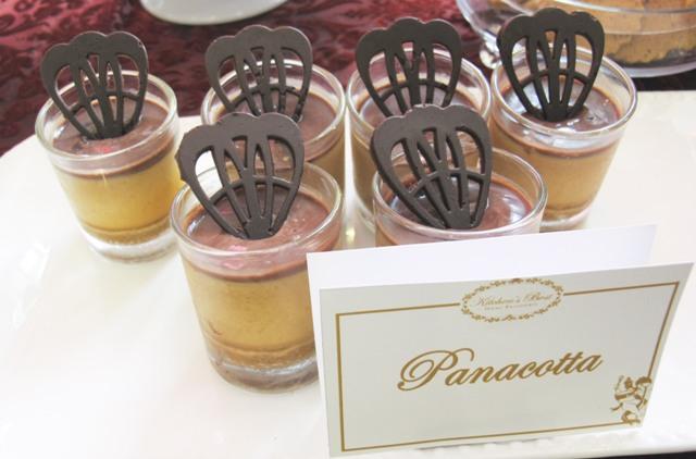 Panacotta in jigger glasses