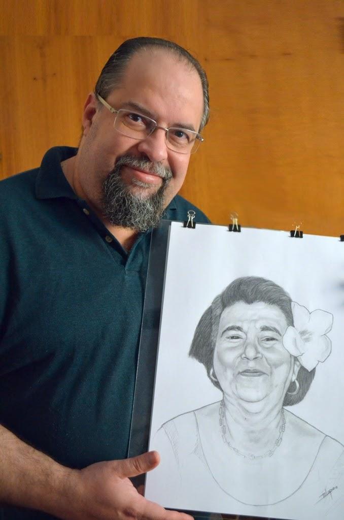 Desenho a crayon feito pelo Desenhista Marcelo Lopes de Lopes