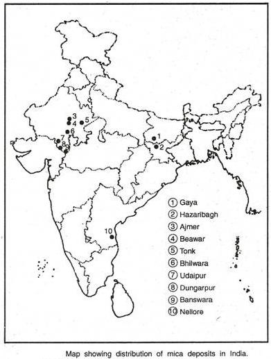 Social Science KV OCF MINERAL ENERGY RESOURCES MAP WORK CLASS X - Beawar map