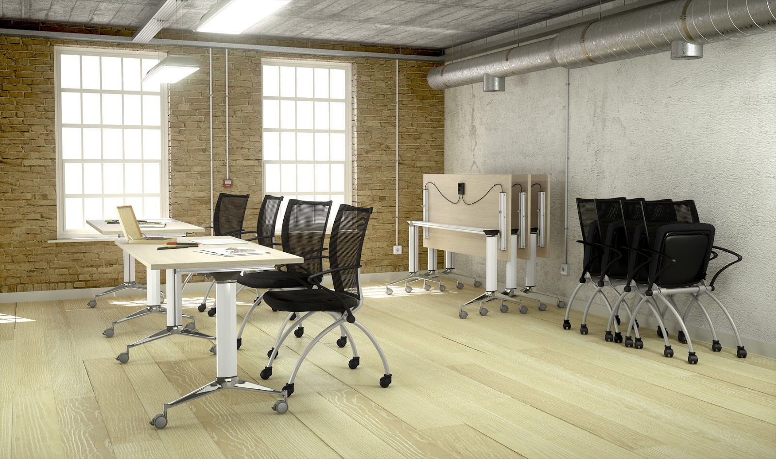 Oficina total mobiliario polivalente - Mesa escritorio con ruedas ...