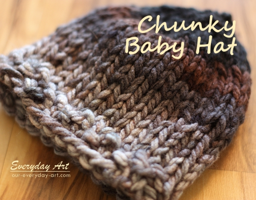 Chunky Knit Hat Pattern Free : Everyday Art: Baby Knits: Chunky and Cabled Knit Hats