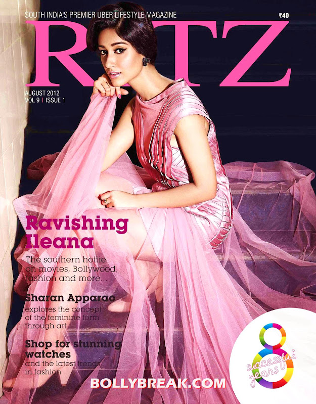 Ileana on cover of Ritz Chennai magazine - Ileana Ritz Chennai Hd Cover Page Pic