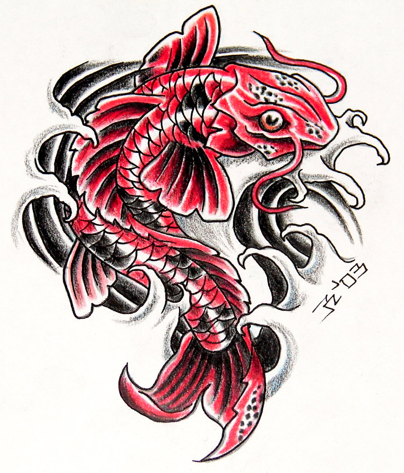 Japanese koi fish tattoos type tattoos for Japanese koi design