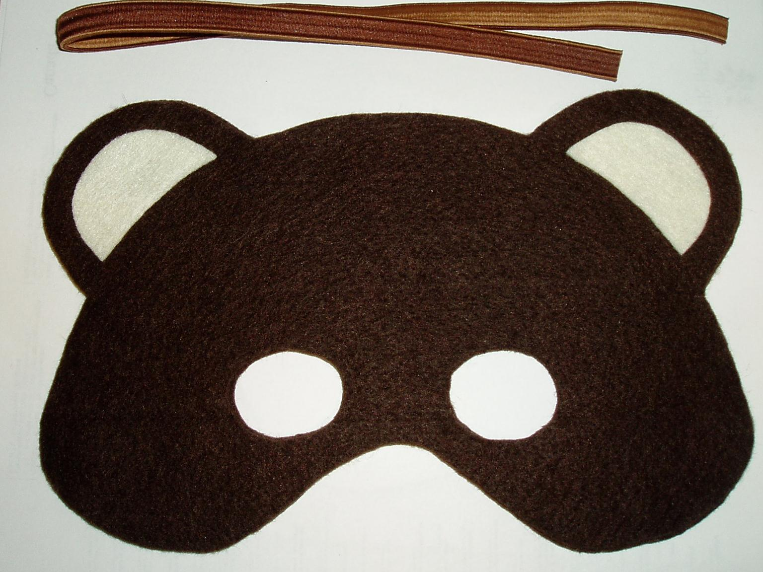 Bear Mask Templates http://slairslair.blogspot.com/2011/11/felt-bear-mask-tutorial-pattern.html