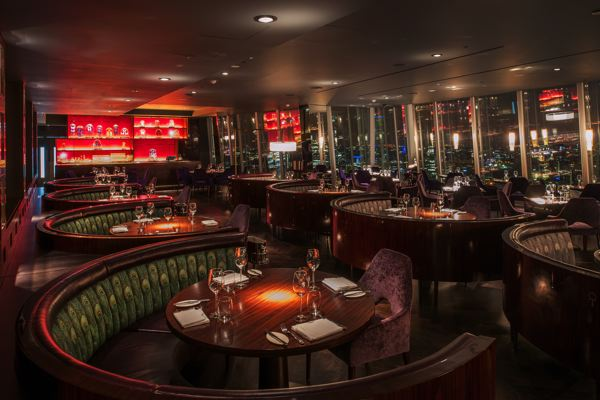 Richard southall architectural photographer aqua bar for Restaurants at the shard