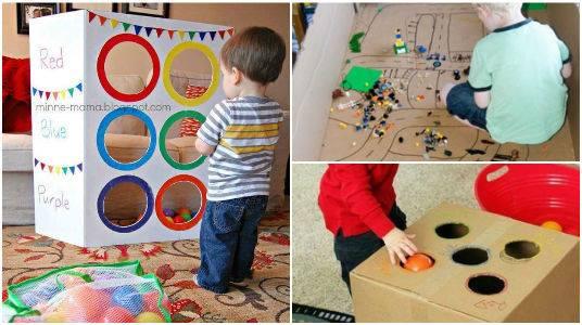 Mam posmoderna ideas divertidas para realizar con cajas for Cajas de carton infantiles