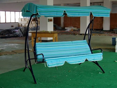 Indoor canopy patio swing ideas blue
