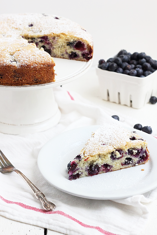 Blueberry & Lemon Muffin Cake | Savor Home