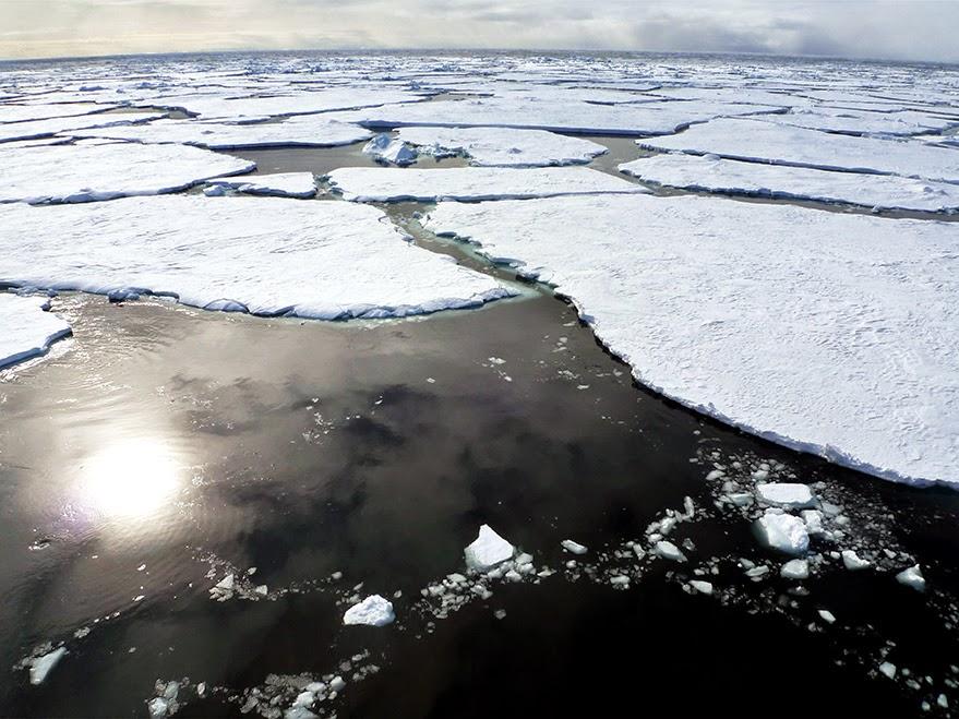 El hielo se desprende