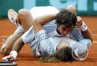 smešne slike: teniseri zajedno