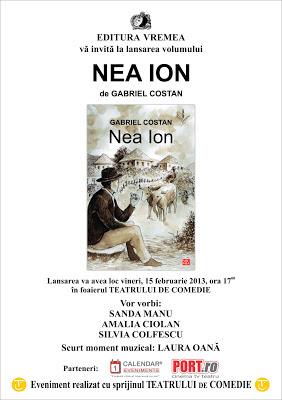 Lansare Nea Ion, de Costan Gabriel