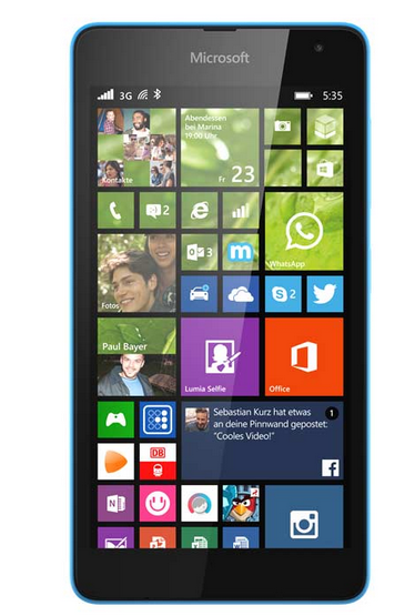 Info Harga Dan Spesifikasi Microsoft Lumia 535 Cyan