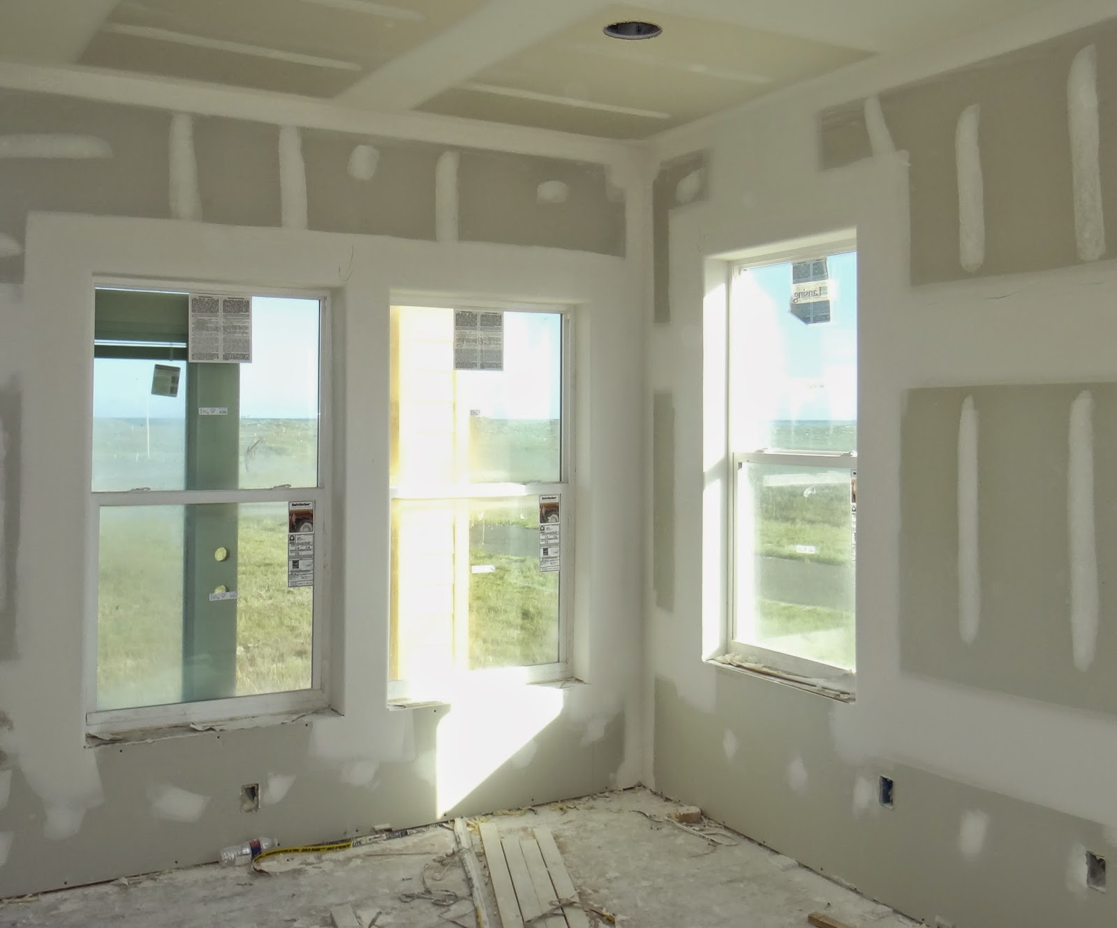 Sweet home mustang island drywall taped and sanded for Drywall around windows