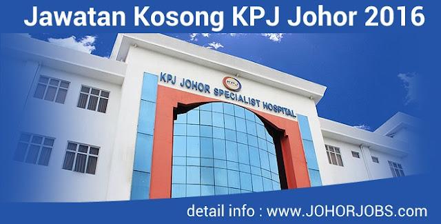 Jawatan Kosong KPJ Johor Specialist Hospital - Resident Medical Consultant
