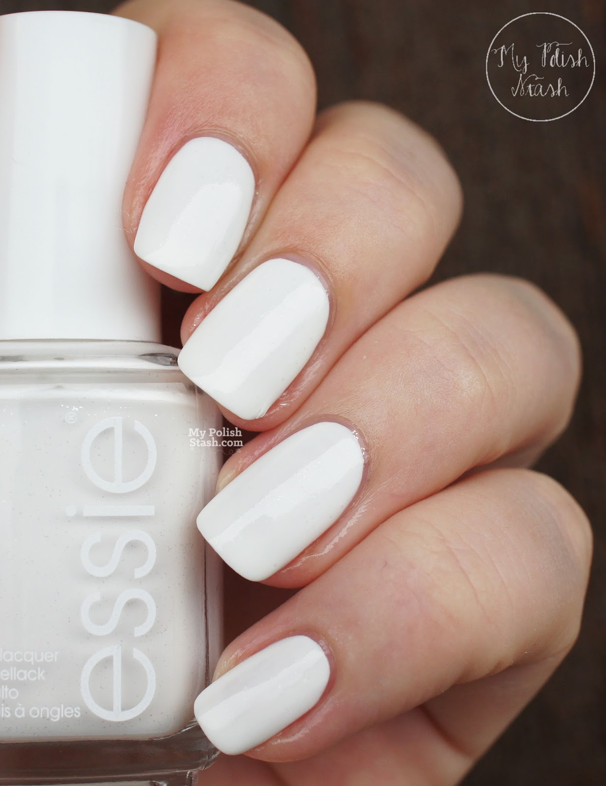 white essie nail polish