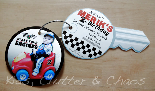 Kids, Clutter and Chaos: Little Brother's 2nd Birthday - Race Car Party
