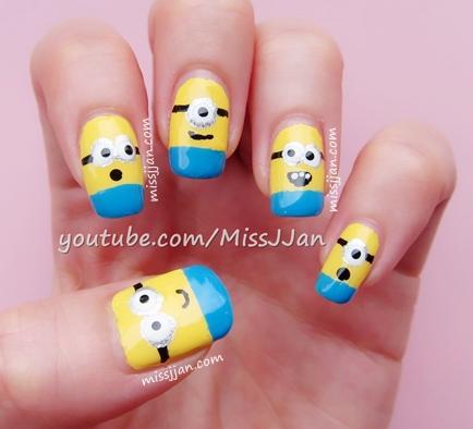 Missjjans Beauty Blog Despicable Me 2 Minions Nail Art