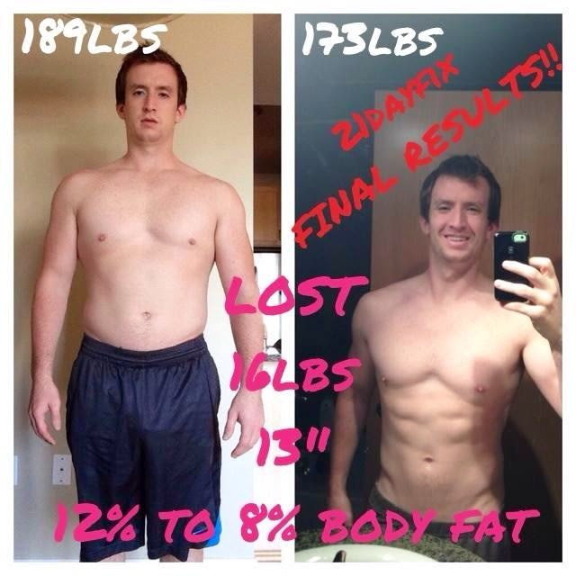 living life to the fullest 21 day fix men and womens results