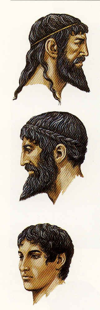 La estética masculina en la Antigua Roma; afeitados