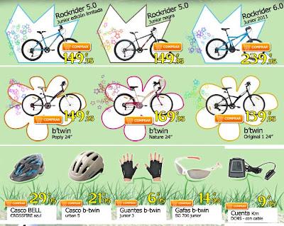Regalar bicicletas y accesorios