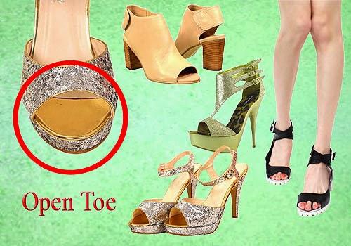 Bagian Depan Sepatu Wanita, Open Toe