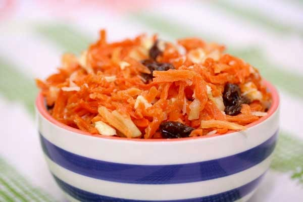 Carrot Salad with Pineapple and Raisins