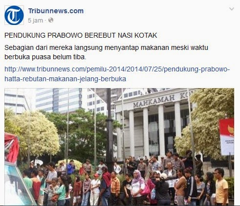 Pendukung Prabowo Gila