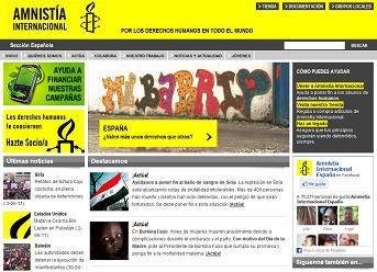 ayuda humanitaria con Amnistía Internacional