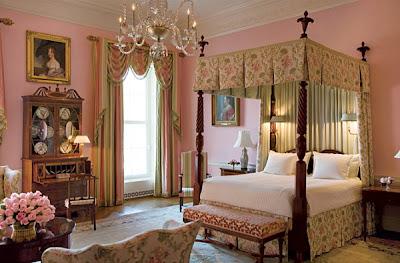 habitación color rosa