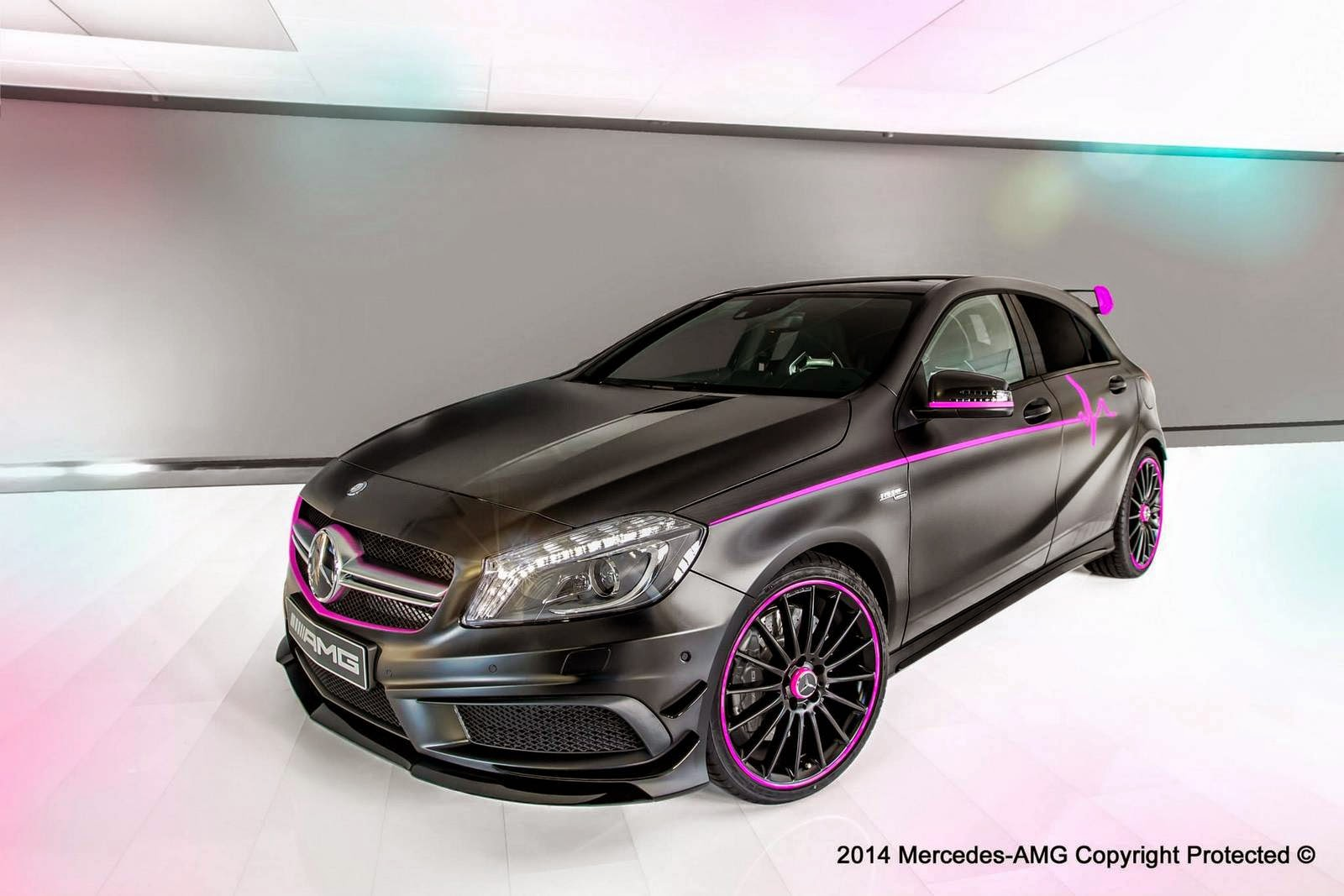 2014 pink mercedes benz a45 amg erika by amg performance for Pink mercedes benz