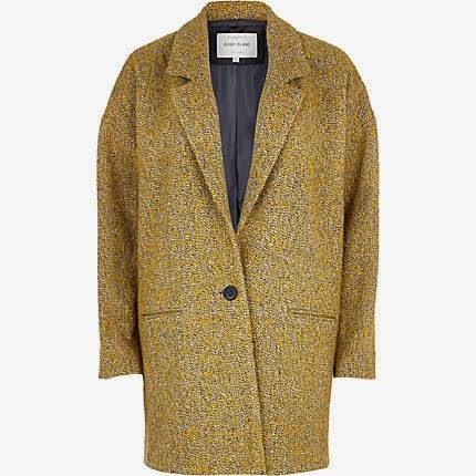 mustard oversized coat