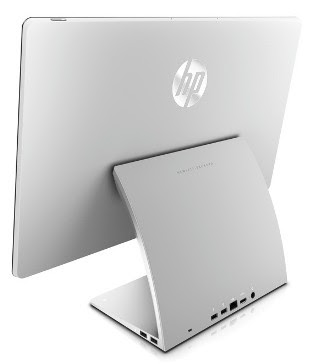 HP Spectre One AiO Desktop back showing ports