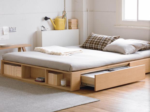 Construye una cama con cajones integrados f cil y r pido for Muebles multifuncionales