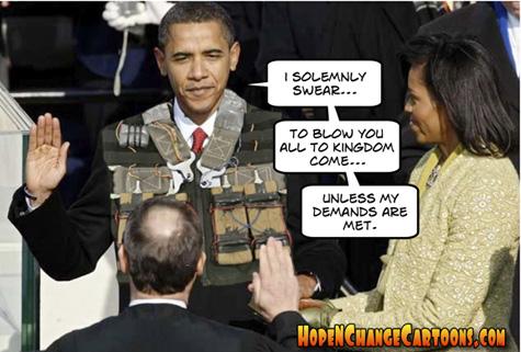 obama, obama jokes, conservative, tea party, stilton jarlsberg, hope and change, debt ceiling, terror, inauguration, negotiation, oath