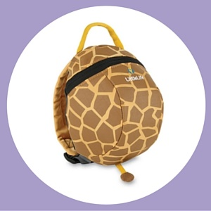 Funky giraffe toddler reins backpack