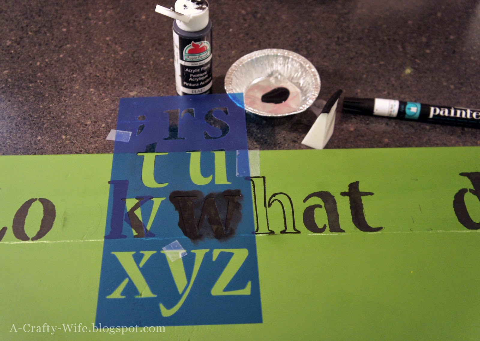 Stencil letters for brag board | A Crafty Wife