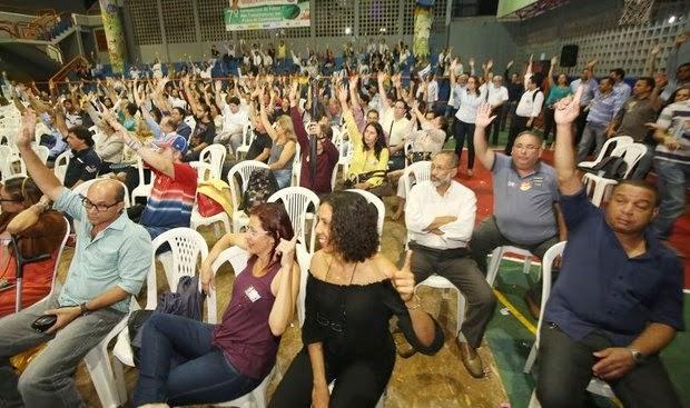 Bancários votaram em assembleia esta noite  (Foto: Divulgação)