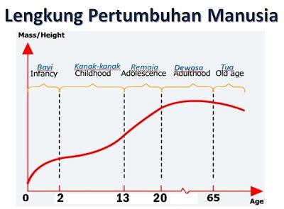Menganalisa pola lengkung pertumbuhan manusia